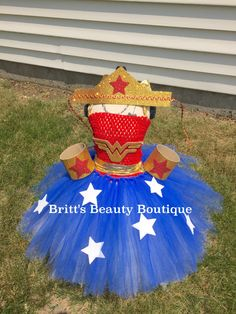 Wonder Women Inspired Tutu Dress/Costume/Halloween/Pageant Wear/Crown/Infant/Toddler/Girl by BrittsBeautyBoutique on Etsy https://www.etsy.com/listing/240880823/wonder-women-inspired-tutu