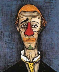 bernard buffet Buffet, Musée D'art Moderne, Clowns, Painting, Expressionism, Parents, Restaurants, Mid Century, Radiation Exposure