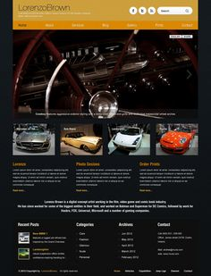Barcelona WP Theme - Sport Cars Showcase Example by ait-themes on DeviantArt Order Prints, Sport Cars, Lorem Ipsum, Barcelona, Ads, Sports, Wordpress Theme, Author, Deviantart