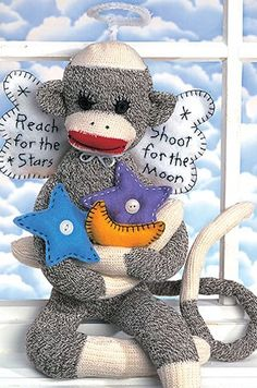 Leisure Arts - Moonbeam the Sock Monkey ePattern, $2.99 (http://www.leisurearts.com/products/moonbeam-the-sock-monkey-digital-download.html)