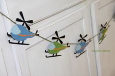Helicopter Banner by RoyGBivs on Etsy https://www.etsy.com/listing/154763644/helicopter-banner
