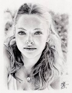 process of drawing amanda seyfried by chaseroflight - Pencil Drawings by David Chong <3 <3