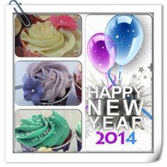 Wishing you all a Very Happy New Year! #happynewyear #gottnyttår #2014 #newyearseve #party #fest #cupcake #göteborg #linné #fun #love #kärlek #lycka