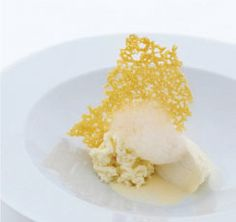 Five ages of Parmigiano Reggiano in different textures and temperatures by Chef Massimo Bottura - Osteria Francescana - Modena, Italy