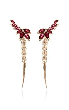 Magnipheasant Detachable Feather Long Earrings by Stephen Webster for Preorder on Moda Operandi Ear Jewelry, High Jewelry, Jewelry Box, Jewelery, Jewelry Accessories, Jewelry Design, Jewelry Making, Stephen Webster, Pearl Pendant Necklace