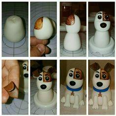 How to make a dog on fondant Max the secret life of pets....como hacer un perro de fondant a max de la película la vida secreta de las mascotas