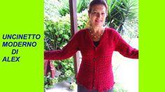CARDIGAN TOPDOWN tutte le taglie all'uncinetto TUTORIAL Crochet Woman, Love Crochet, Crochet Top, Crochet Cardigan Pattern, Crochet Patterns, Top Down, Summer Jacket, Jumpers For Women, Women's Jumpers