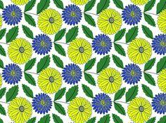 """Retro Floral Blast"" by britterica floral, retro"