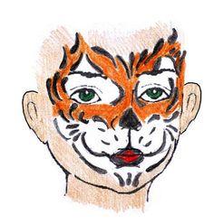 schminken, sminken, grimeren tijger Face Painting Themes, Rooster, Make Up, Butterfly, Dogs, Animals, Art, Art Background, Animales