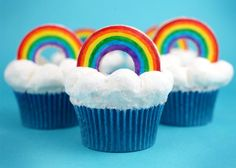 Cupcakes arcoiris...Somewhere over the rainbow