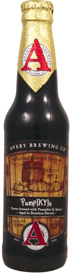 Avery Pump[KY]n (Spice/Herb/Vegetable) Dark brown color. Powerful, alcoholic, hot, with mild chocolatey aroma, raisins, some tobacco, warm spices, very rich.