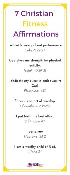 7 Christian Fitness Affirmations|Bible Verse|Faith|Exercise|Diet|Weight Loss|Healthy