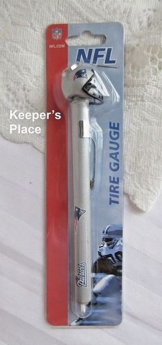 New England Patriots Official NFL Tire Gauge Helmets Logo New In Package #McArthur #NewEnglandPatriots