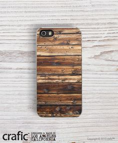 Wood+Stripe+Print+iPhone+5+Case+Wood+iPhone+5+Case+Woody+by+CRAFIC,+$14.00