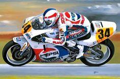Racing Cafè: Motorcycle Art - Alan Jones #1