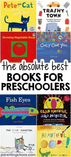 of the BEST Books for Preschoolers! The absolute best books for preschoolers - over 100 ideas!The absolute best books for preschoolers - over 100 ideas! Preschool Literacy, Preschool Books, Book Activities, Preschool Activities, Preschool Education, Books For Preschoolers, Best Preschool, Best Books For Toddlers, Best Books For Kindergarteners
