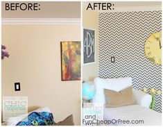 Dress your walls in fabric if you love patterns, but hate contact wallpaper. 12 Home Upgrades That'll Make Renters Say Why Didn't I Know About This Sooner? Home Upgrades, Extra Storage Space, Storage Spaces, Shabby Chic Vintage, Foam Sheets, Next At Home, White Walls, Diy Home Decor, New Homes