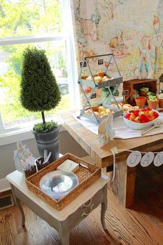 Peter Rabbit . Baby Shower . Food Table . Finnie Nash . Nashville, TN