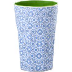 Rice DK Blue & White Tall Melamine Cup