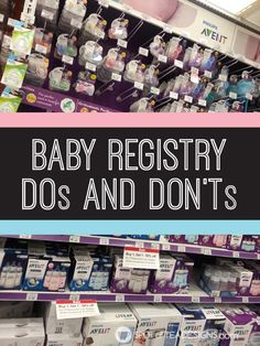 Baby Registry Dos and Don'ts. Tips on what to add, who to bring when building it and what to avoid adding. #babyregistry #baby #firsttimemom | spotofteadesigns.com