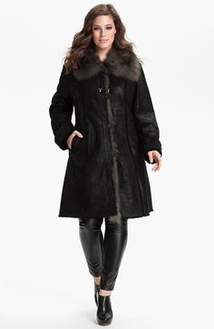 d1ad96893 Blue Duck Genuine Shearling & Fox Fur Coat (Plus size) available at #