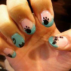 #Cat Nail Art / POPSUGAR Pets