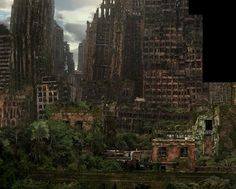 . After Earth, Post Apocalyptic Art, Abandoned Cities, End Of Days, Post Apocalypse, Environment Concept Art, Matte Painting, End Of The World, Post Apocalyptic