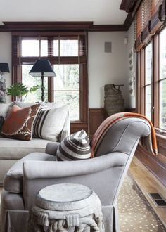 his hers gorgeous living room not generally a wood trim fan but