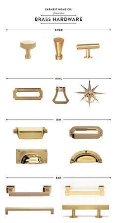 Erin Souder discusses the best brass kitchen hardware in her farmhouse kitchen renovation.
