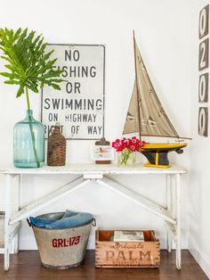 HGTV Magazine takes you inside a California bungalow filled with vintage goods