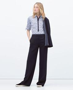 Image 2 of STRETCH POPLIN SHIRT from Zara