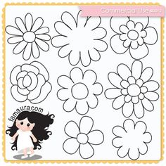 Doodles Collection 2012 nº09 by Fa Maura [FaMaura_DoodleFlor12] - R$5.04 : famaura.com - scrapshop