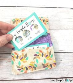 business card carrier sewing project and free pattern