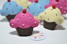 cupcake em feltro - Pesquisa Google