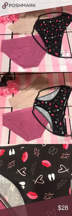 Bundle Set of 3⚜️ M ⚜️ Victoria's Secret Hiphugger Bundle Set of 3⚜️ Size M⚜️ Victoria's Secret 95% Cotton Hiphugger  🇱🇷 95% Cotton, 5% Elastane. 🇱🇷 New with tag, never been worn.  📣📣📣📣📣To my loves💞 🚀 Fast shipping. 🚀 🍀 Smoke and pets free. 🍀 🚫 No trade please!🚫 Victoria's Secret Intimates & Sleepwear Panties