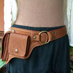 Leather Hip Bag Leather Utility Belt Bag Fanny Pack