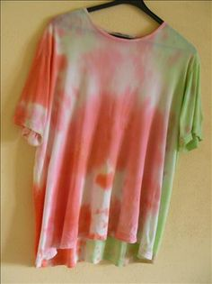 """""""Kool Aid Tie Dyed T-Shirts from Food.com""""  Another craft to try with Zac. It looks like an outdoor project (-: Good thing because there is a Kool-Aid Man shaped hole in my wall--ALRIGHT!!"""