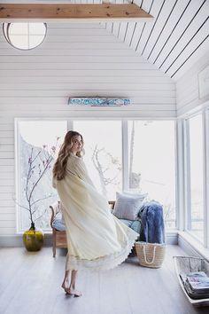 Lantliv ©Anna Malmberg  Bohemian girl, Love Warriors, kimono, kaftan, spring outfit, cottage,