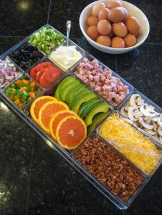 Create-your-own-omelet bars are not just for Sunday brunch at fancy restaurants anymore! Stock your Prepster with your favorite ingredients and have a custom omelet or scramble every day of the week.