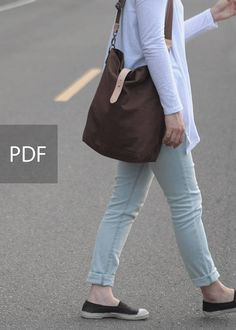 Hobo Canvas Bag Bag PDF Sewing Pattern with Sewing