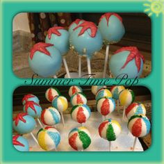 Summer time cake pops