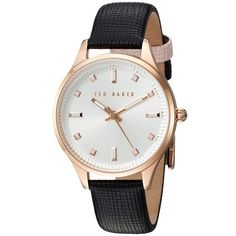 Ted Baker Dress Sport (Multi) Watches ($130) ❤ liked on Polyvore featuring jewelry, watches, stainless steel watches, ted baker watches, heart-shaped watches, leather strap watches and coin jewelry