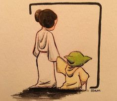 Benson Shum's image of Princess Leia holding hands with Yoda along with the post 'Rest in Peace Carrie Fisher' has had hundreds of retweets.