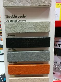 The colours for tile paint (for pool edge tiles)