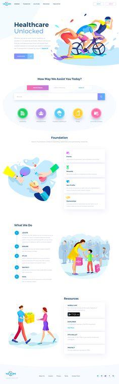 Atach Website Design Layout, Web Layout, Layout Design, Website Designs, Cool Web Design, App Design, Native Design, Medical Design, Ui Design Inspiration
