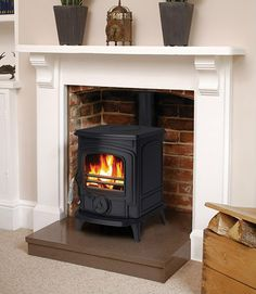 Aga Little Wenlock Multifuel Stove | eBay - perfect victorian fireplace?