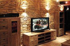 Wohnzimmer   Wandverkleidung Mit GFK Steinpaneele