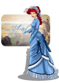 Vintage Princess - Ariel by selinmarsou, Walt Disney movie animation enchanting fairytale The Little Mermaid, art