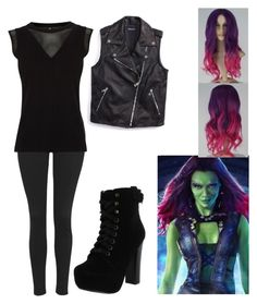 """Gardians Of The Galaxy cosplay"" by angel-of-fear ❤ liked on Polyvore"