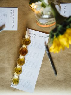 Whiskey has become quite the popular gal on the block, both on the internet and in real life. Today I'm sharing tips for hosting a whiskey tasting party and giving away a free printable of whiskey tasting note cards!